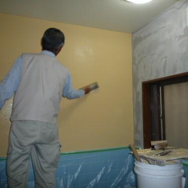 漆喰塗り工程